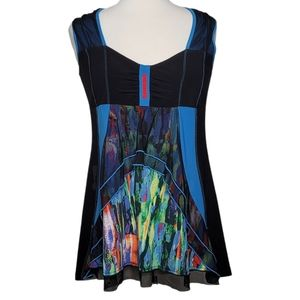 BALI Top Blouse Sleeveless Abstract Multi Color